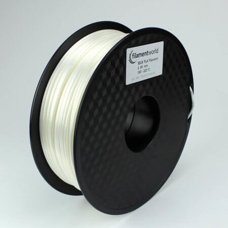 PLA Silk Filament - Weiß - 2.85 mm