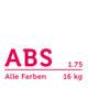 ABS Filament 1.75 mm - Alle Farben Paket