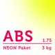 ABS Filament 1.75 mm - NEON Paket