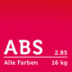 ABS Filament 2.85 mm - Alle Farben Paket