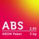 ABS Filament 2.85 mm - NEON Paket