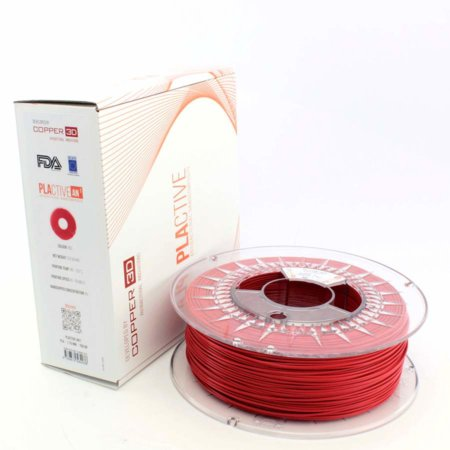 Copper 3D Filament - PLActive - Rot - 1.75 mm